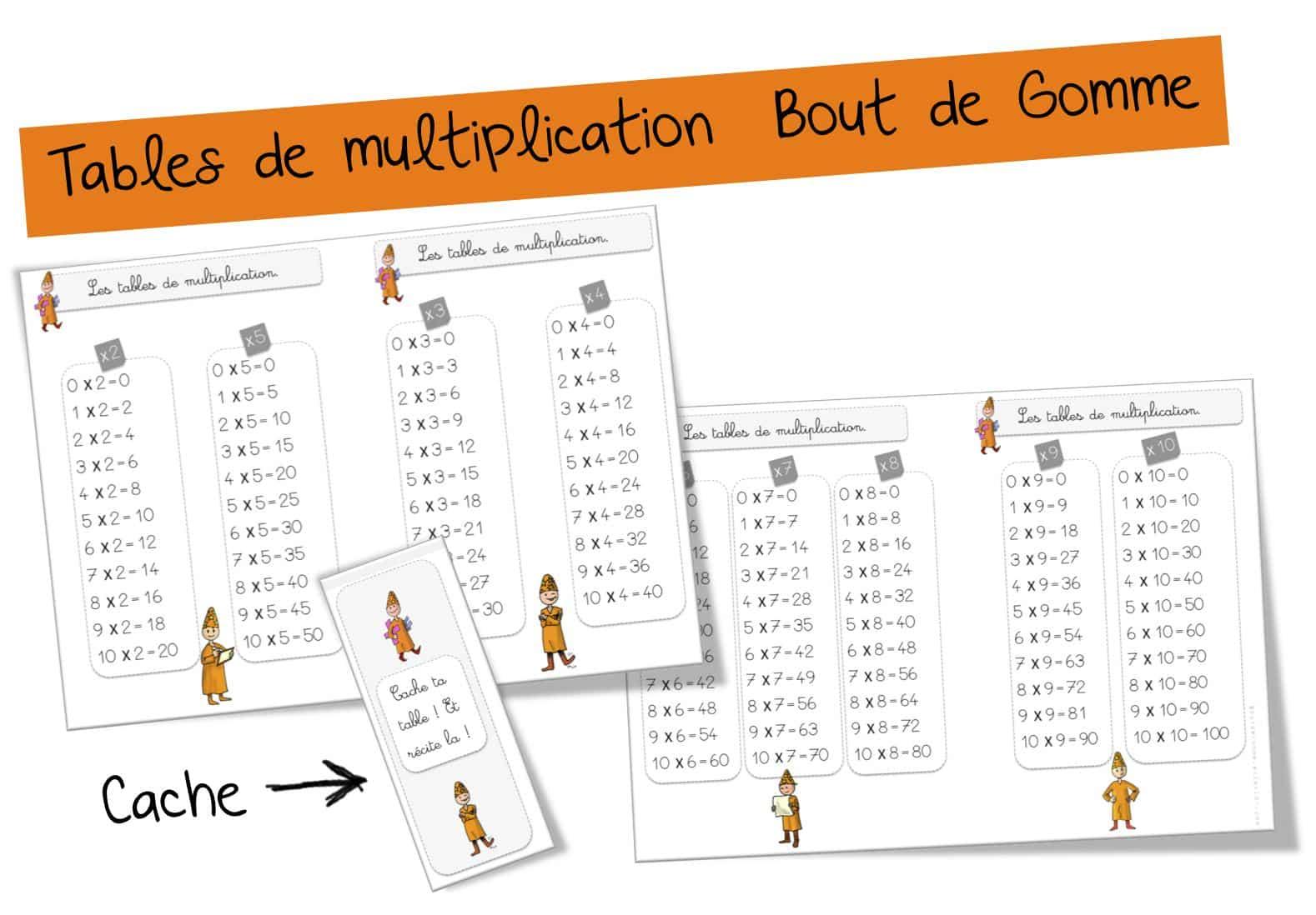 Comment apprendre les tables de multiplication - Tables de multiplications a imprimer ...