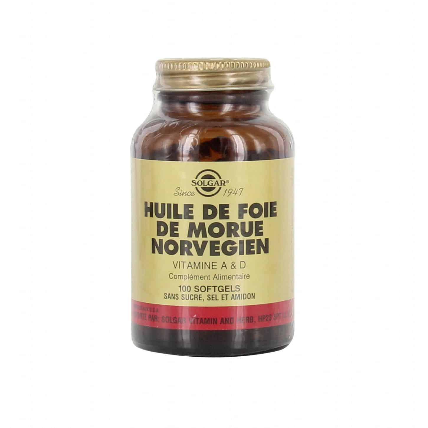 Gélule d'huile de foie de morue : elle permet de renforcer mon organisme